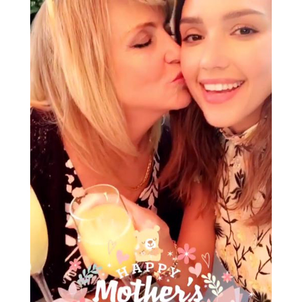 "Jessica Alba and her mom Cathy shared a toast in honour of Mother's Day, in a video posted on Snapchat and Instagram. ""#happymothersday love you @cathyalba,"" Jessica captioned the short clip.