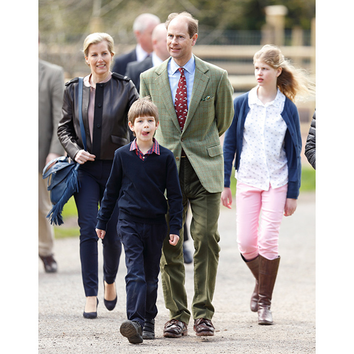 Sophie and Prince Edward have two children, a 12-year-old daughter Louise and an eight-year-old son James.