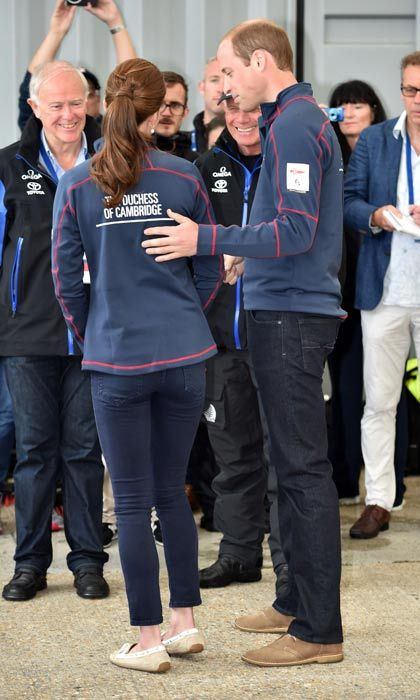 Prince William and Kate previously visited Portsmouth together to watch the America's Cup World Series, but the event was cancelled due to bad weather.