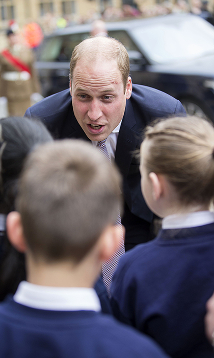 William spoke to schoolchildren in Oxford.