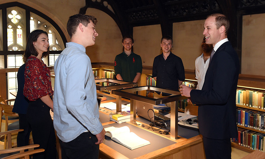 """Do you actually use the library? This isn't just for show then?"" he joked.