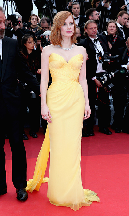 Jessica Chastain in Armani Privé 