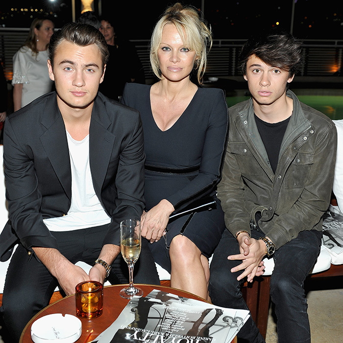 Pamela with her sons Brandon and Dylan.