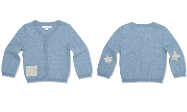 Nicolas wore a cardigan from Crown Princess Marie-Chantal's childrenswear line.