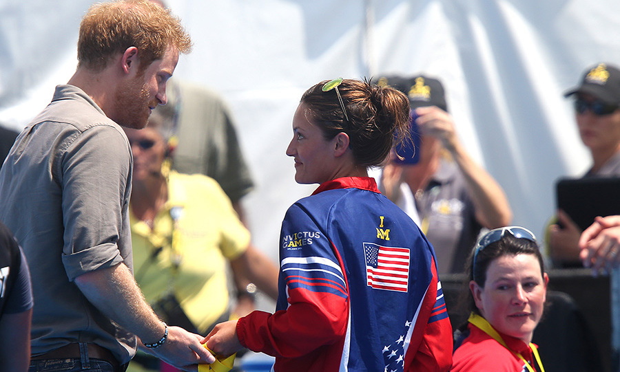 Sergeant Elizabeth Marks asked Prince Harry to donate her gold medal to a UK hospital.