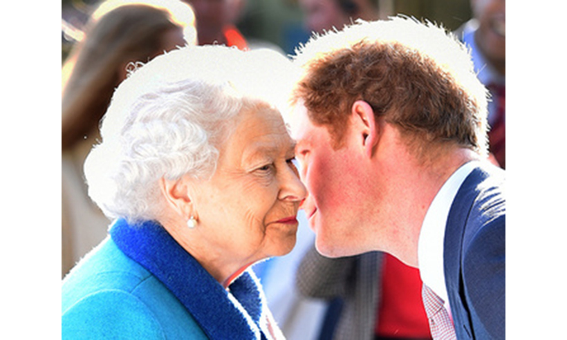 The Queen and Prince Harry pictured at the event last year.