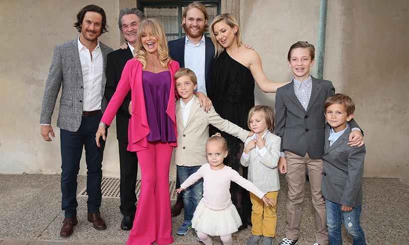 Goldie Hawn felt the love at her annual Love In For Kids benefit in Los Angeles. The actress's entire family turned out to show their support. From left: Oliver Hudson, Kurt Russell, Goldie Hawn, Wyatt Russell, Oliver's children Wilder, Bodhi and Rio; Kate Hudson and sons Ryder and Bingham.
