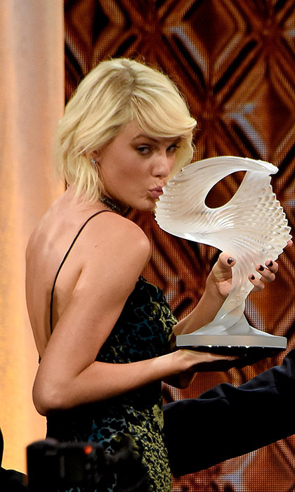 It was only fitting that Taylor Swift took home the newly-created BMI Taylor Swift Award at the 64th Annual BMI Pop Awards in Los Angeles. 