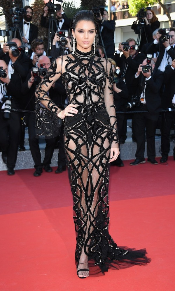 Kendall Jenner in Roberto Cavalli Couture.