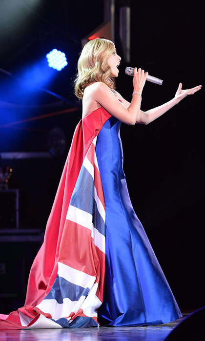 Katherine Jenkins performed I Vow to Thee My Country.