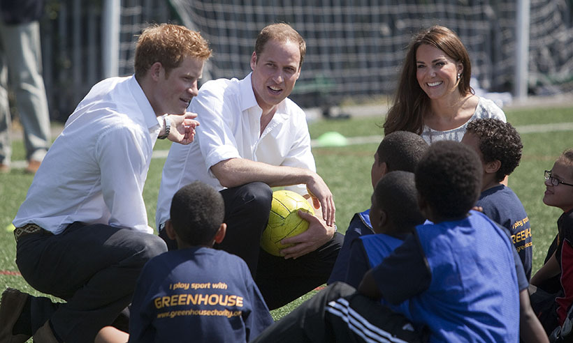 Harry, William and Kate believe that sports can help young people flourish. In 2012 they launched Coach Core - a program that encourages kids from disadvantaged areas to transform their communities through sports.
