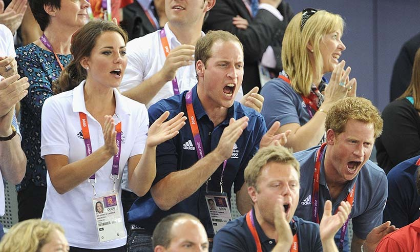 At the 2012 Summer Olympics in London, Harry, Will and Kate were the ultimate cheerleading squad, turning up at several events throughout the international sporting event. 