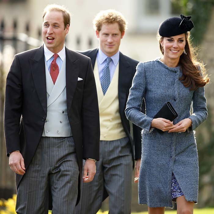 Given how close William and Harry are and that Kate has been a part of William's life for a decade, the three royals share many common friends. Here, they attend the wedding of Lucy Meade and Charlie Budgett in Chippenham, England. 