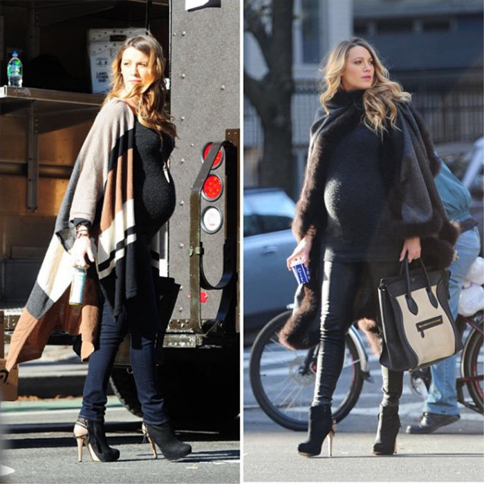 The 28-year-old doesn't just dress her bump up for red carpet events - the star also has great maternity street style. Wrapping up warm, Blake wore two different Alicia Adams Alpaca wraps during outings in New York City.