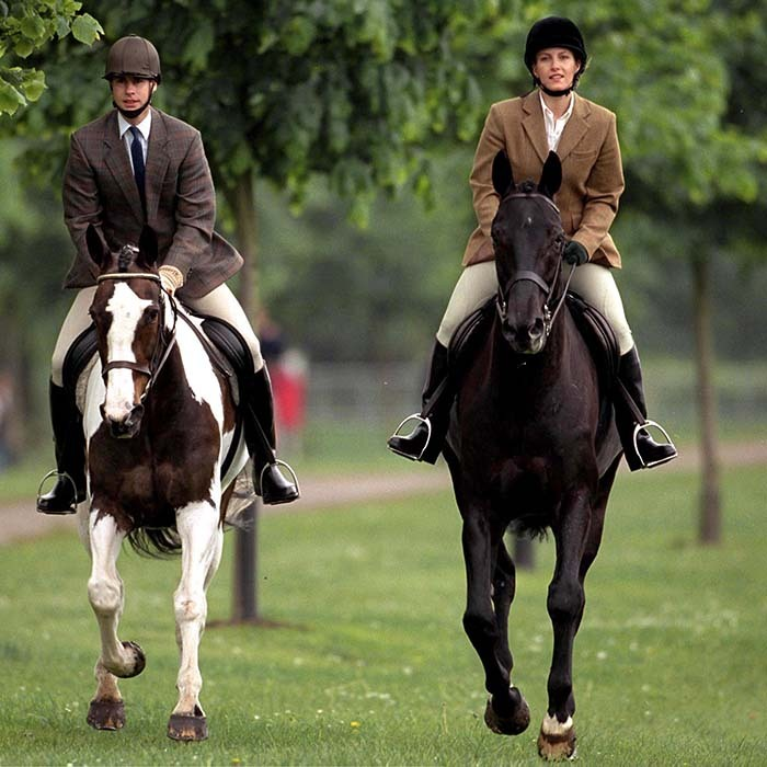 A love of riding is one thing that Prince Edward and his wife Sophie, Countess of Wessex have in common. 