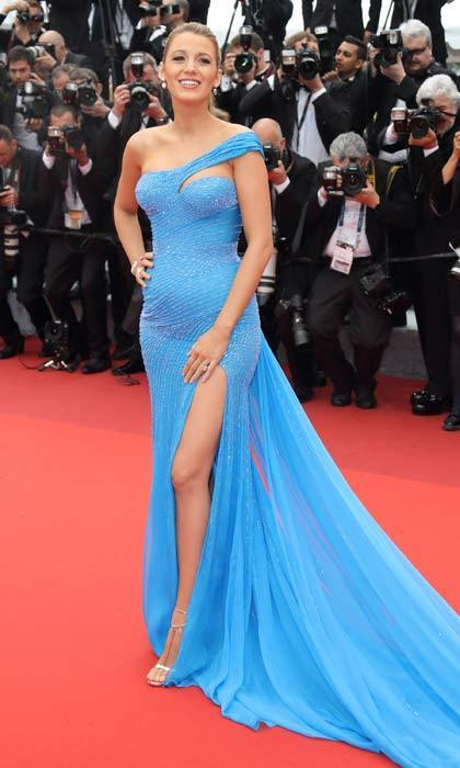 Blue is definitely her color! Blake looked sensational wearing an Atelier Versace gown at the Cannes premiere of Steven Spielberg's new film <em>The BFG</em>.