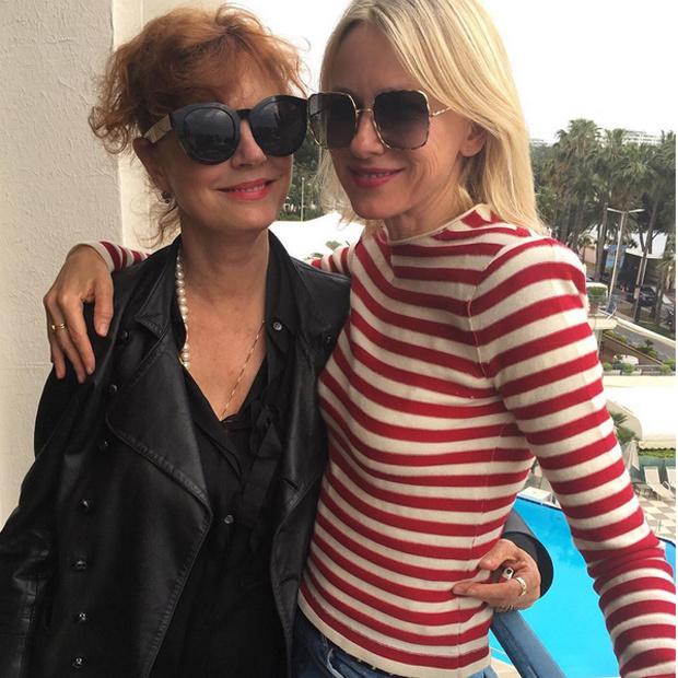 "Naomi Watts (@naomiwatts) chilled with her ""L'Orealista Sister"" Susan Sarandon during some downtime away from the cameras and the red carpets."