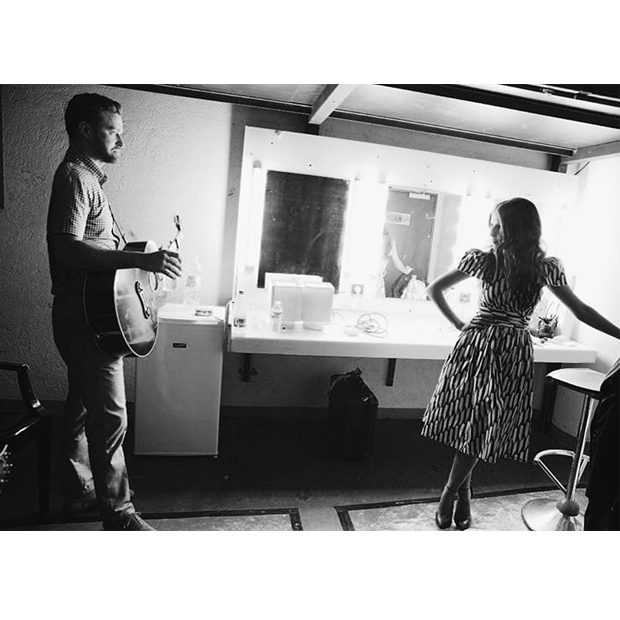 "Justin Timberlake (@justintimberlake) shared a snap from the greenroom with his <em>Trolls</em> co-star and duet partner Anna Kendrick. He captioned the photo ""Anna and Garfunkel."""
