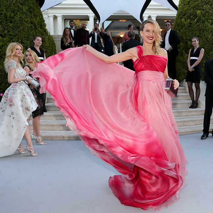 Petra Nemcova in Georges Chakra 