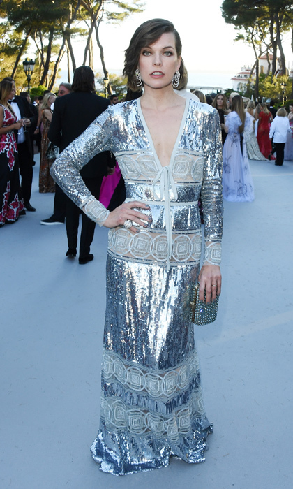 Milla Jovovich in Elie Saab