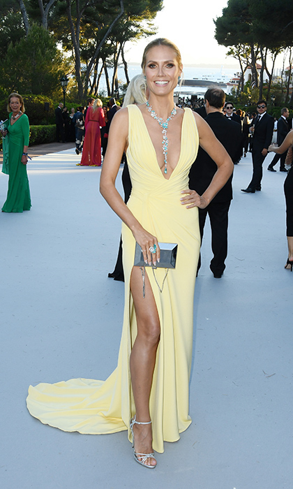 Heidi Klum in Versace