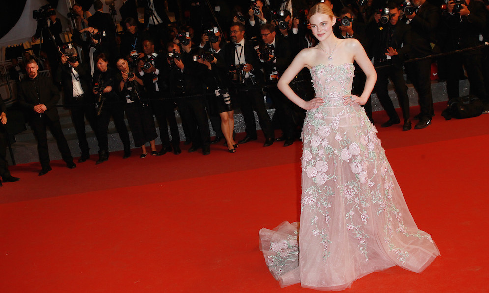 Elle Fanning in Zuhair Murad.