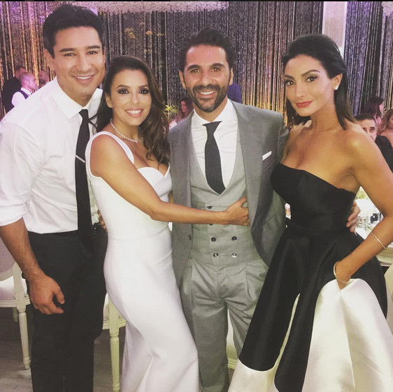 "Mario Lopez: ""Congrats to my girl @EvaLongoria & her awesome husband Pepe! Amazing weekend & honored to have been a part of it. So happy for you.. Love you kid