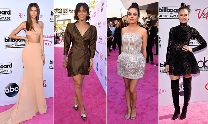 A number of trends were in tune at the 2016 Billboard Music Awards, like neutral hues and rich textures - from Ciara's sequins and Keke Palmer's latex to Rihanna's silk and Jessica Alba's lace. Click through to see all the best looks from the pink carpet...