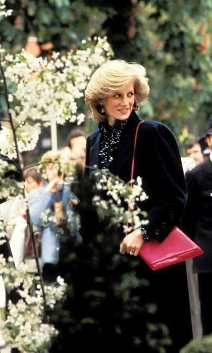 Princess Diana looked every inch the '80s style icon while visiting the Chelsea Flower Show in 1984, the same year she and Prince Charles welcomed second son Prince Harry.