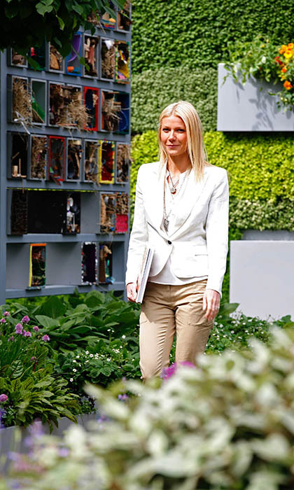 Gwyneth Paltrow strolled through the gardens in 2011. Vivienne Westwood, Chris Evans and Dame Maggie Smith were among the other celebrities spotted at the show that year. 