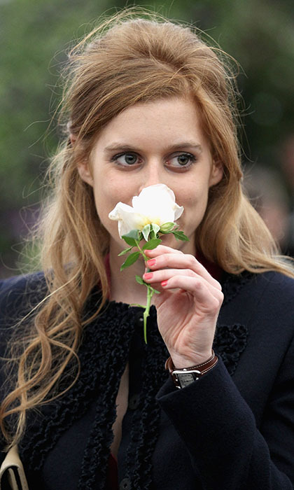In 2011, Princess Beatrice was presented with a white rose on arrival at the Chelsea Flower Show, which she quickly brought to her nose for a fragrant inhale.