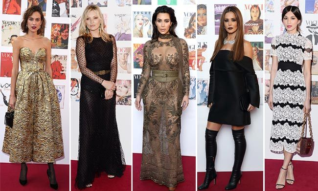 A host of stars turned out in style to help <em>Vogue</em> celebrate 100 years. Kim Kardashian and Kate Moss were among the famous faces who toasted the iconic fashion brand. Click through for the best dressed from the event...