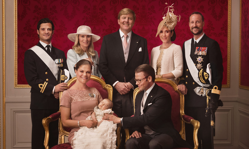 <b>King Willem-Alexander of the Netherlands</b>, <b>Princess Mary of Denmark</b> and <b> Prince Haakon of Norway</b> are godparents to...