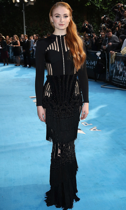 Sophie showed her loyalty to the Balmain army at the London premiere of <i>X-Men: Apocalypse</i>. 