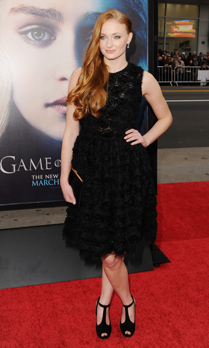 Elegant in black at the Los Angeles premiere of <i>Game of Thrones</i> in 2013. 