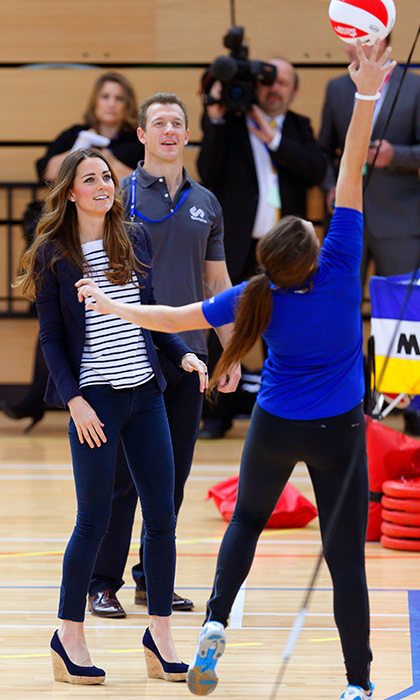 Kate has taken part in a number of SportsAid engagements in the past. 