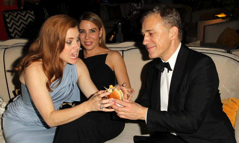 Okay fine, Amy Adams can have a bite. But only because she just won a Best Actress Golden Globe for her role in <em>American Hustle</em>. And she wouldn't take no for an answer. But no one else.