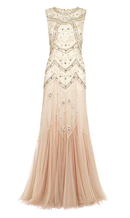 Tulle V-Cut Gown, $586, needleandthread.com