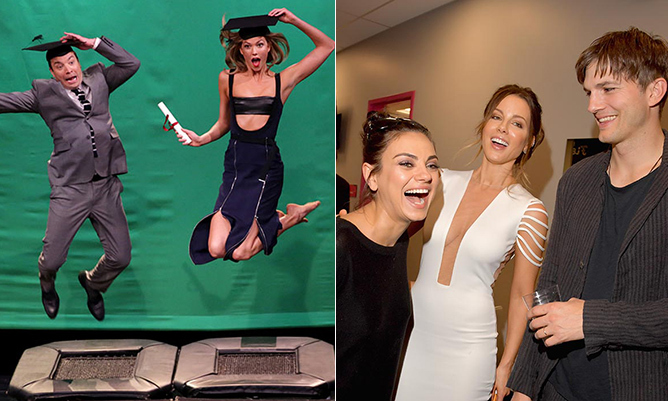 From Karlie and Jimmy jumping around to actors like Mila Kunis, Kate Beckinsale and Ashton Kutcher invading musicians' turf at the Billboard Music Awards in Vegas, the stars sure had a blast this week. 