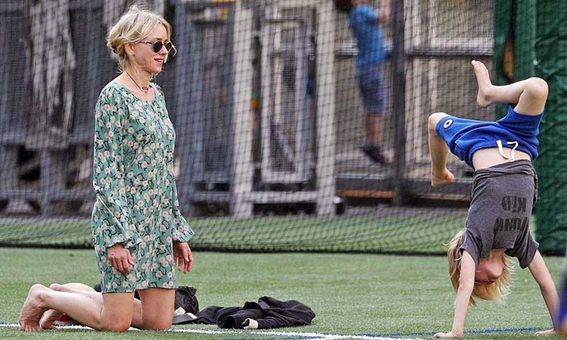 Mom-of-two Naomi Watts enjoyed some recreation time with son Samuel in New York. 