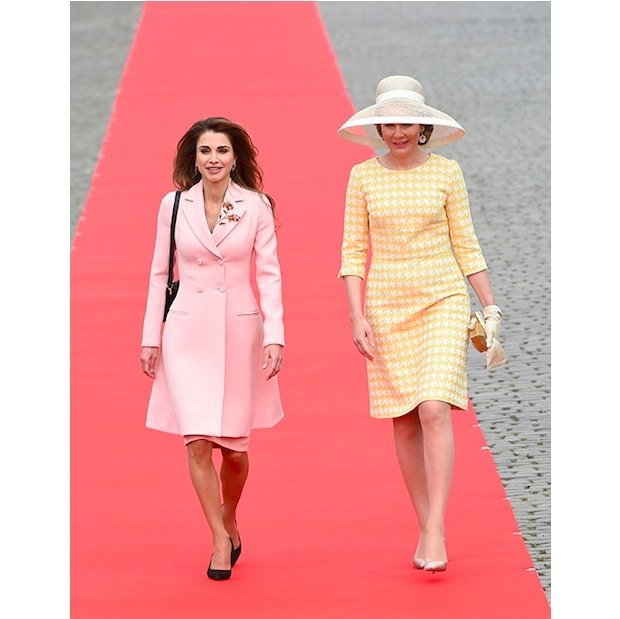 Queen Rania and Queen Mathilde.