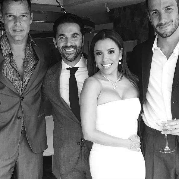 "Ricky Martin shared a photo of himself with the newlyweds on Instagram, telling fans: ""Love is in the air!""