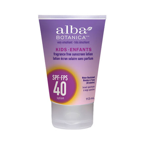 "<b>Alba Botanica Kids Sunscreen Lotion</b>, $10, Whole Foods and London Drugs, <a href=""http://www.well.ca"" target=""_blank"">well.ca</a>"