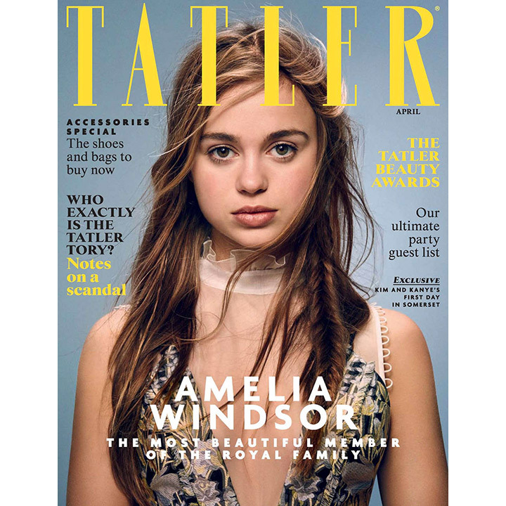 <i>Tatler</i> crowned Lady Amelia Windsor the royal family's most beautiful member in April 2016. The 20-year-old dazzled in a printed gown by Canadian-born designer Erdem. 