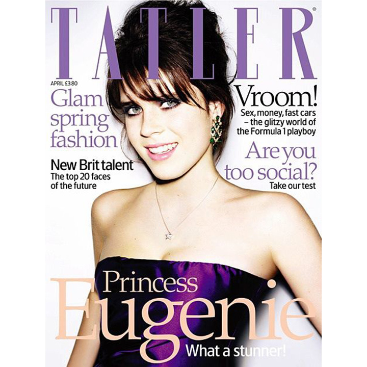 Princess Eugenie followed in her big sister's footsteps in April 2008 by posing for <i>Tatler</i>. It was a stepping out of sorts for the Queen's granddaughter, who was celebrating her milestone 18th birthday.    