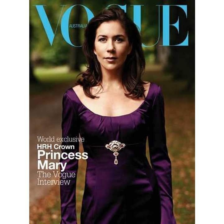 Shortly after marrying Crown Prince Frederik of Denmark in 2004, Princess Mary posed for her native Australia's edition of <i>Vogue</i> magazine. The editorial spread, shot by Regan Cameron at both Amalienborg palace and Fredensborg palace, took three days to complete. 