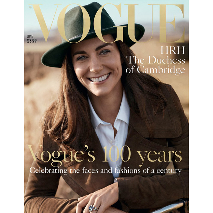 The Duchess of Cambridge made a surprise appearance on the June 2016 issue of British Vogue. Josh Olins photographed the mother of two in celebration of the publication's 100th anniversary. It marked the first time Kate posed for a magazine cover. 