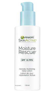 "<b>Garnier SkinActive Moisture Rescue SPF 15 Actively Hydrating Daily Lotion</b>, $10, at drugstores and mass-market reailers, <a href=""http://www.garnier.ca"" target=""_blank"">garnier.ca</a>"