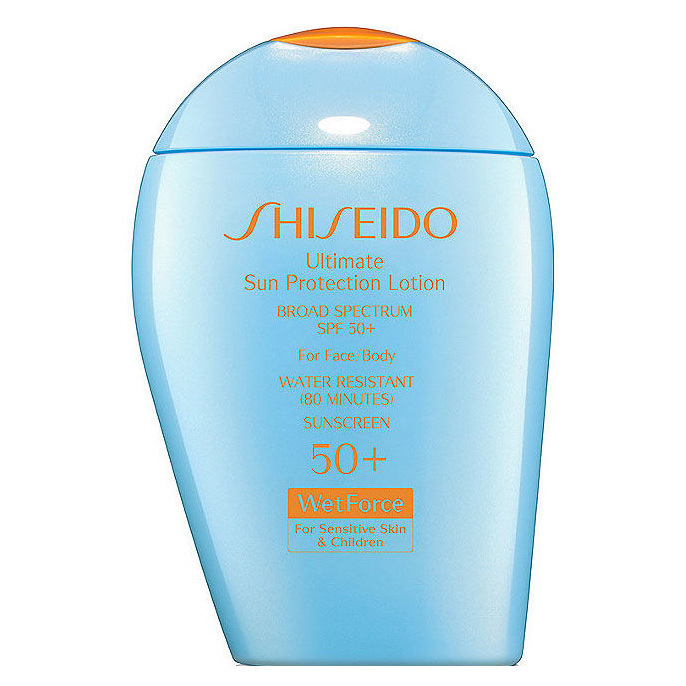 "<b>Shiseido Ultra Sun Protection Lotion SPF 50+</b>, $49, at Hudson's Bay, Nordstrom, Holt Refrew, Sears, Sephora, <a href=""http://www.shiseido.ca"" target=""_blank"">shiseido.ca</a>"