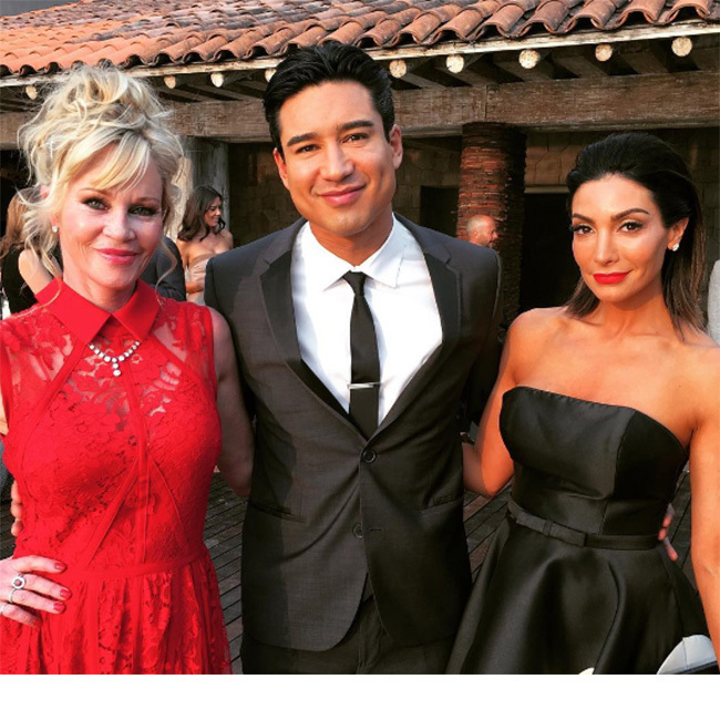 Melanie Griffith was also among the lucky invitees.